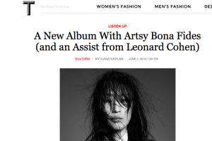 JUNE A NEW ALBUM WITH ARTSY BONA FIDES (AND AN ASSIST FROM LEONARD COHEN)